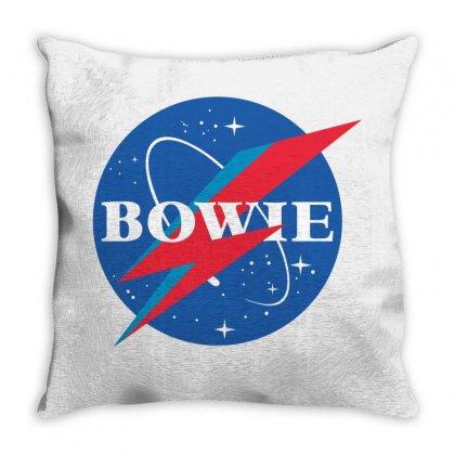 Bowie Nasa Parody Throw Pillow Designed By Toweroflandrose