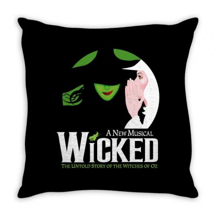 Wicked Broadway Musical Throw Pillow Designed By Toweroflandrose