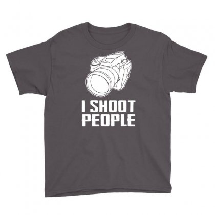 Digital Camera I Shoot People Youth Tee Designed By Andini