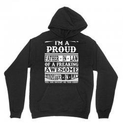I'm A Proud Father In Law Of A Freaking Awesome Daughter In Law Unisex Hoodie   Artistshot