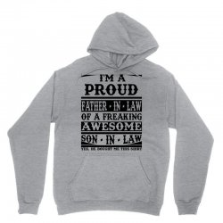 I'm A Proud Father In Law Of A Freaking Awesome Son In Law Unisex Hoodie   Artistshot