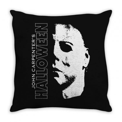 Halloween Michael Myers Throw Pillow Designed By Blqs Apparel