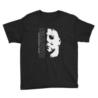 Halloween Michael Myers Youth Tee Designed By Blqs Apparel