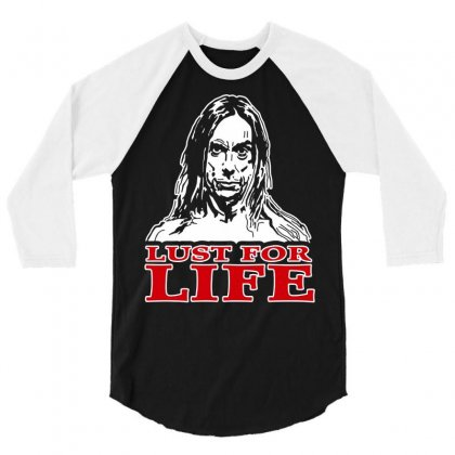Lust For Life Iggy Pop Rock 3/4 Sleeve Shirt Designed By Andini