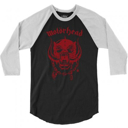 Motorhead Rock Band 3/4 Sleeve Shirt Designed By Andini