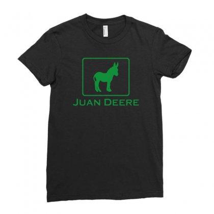 Juan Deere Ladies Fitted T-shirt Designed By Narayatees