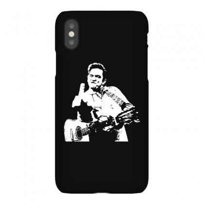 Johnny Cash Middle Finger Shirt Johnny Cash Middle Finger Poster Johnn Iphonex Case Designed By Teeshop