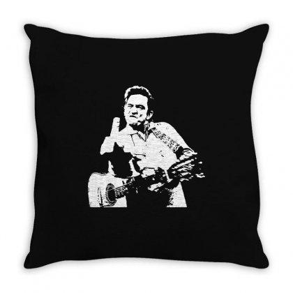 Johnny Cash Middle Finger Shirt Johnny Cash Middle Finger Poster Johnn Throw Pillow Designed By Teeshop