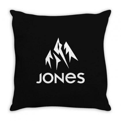 Jones Snowboard Throw Pillow Designed By Teeshop