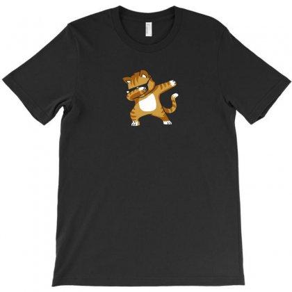 Caramel   Dabbing Cat T-shirt Designed By Mdk Art