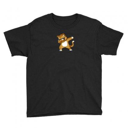 Caramel   Dabbing Cat Youth Tee Designed By Mdk Art