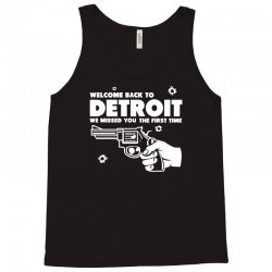 welcome back to detroit Tank Top | Artistshot