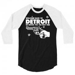 welcome back to detroit 3/4 Sleeve Shirt | Artistshot