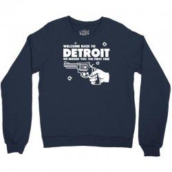 welcome back to detroit Crewneck Sweatshirt | Artistshot