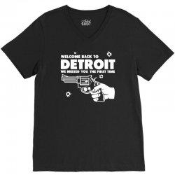 welcome back to detroit V-Neck Tee | Artistshot