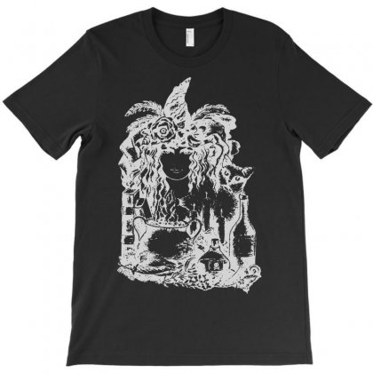 Witch Girl T-shirt Designed By Andini