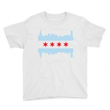 Chicago Flag Youth Tee Designed By Sengul