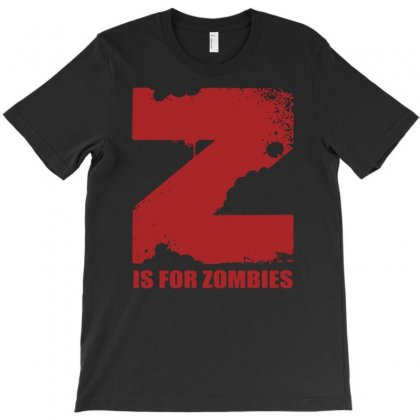 Z Is For Zombies T-shirt Designed By Andini
