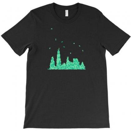 Chicago Skyline T-shirt Designed By Bapakdanur