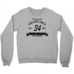 wintage chick 34 Crewneck Sweatshirt | Artistshot