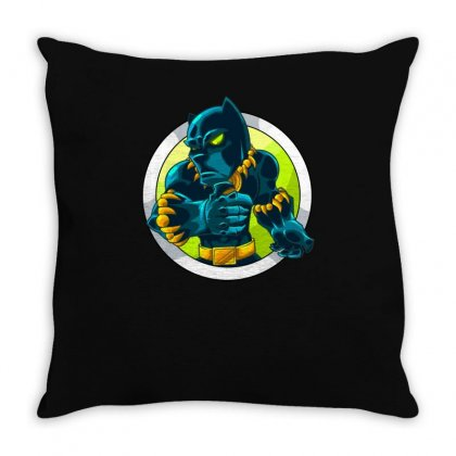 Black Panther New Throw Pillow Designed By Z4k1