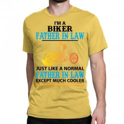 Biker Father In Law... Classic T-shirt Designed By Sabriacar