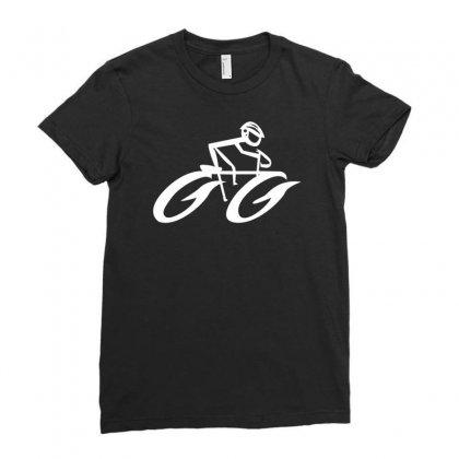 Cyclist Road Bike Biking Ladies Fitted T-shirt Designed By Satuprinsip