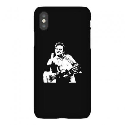 Johnny Cash Middle Finger Shirt Johnny Cash Middle Finger Poster Johnn Iphonex Case Designed By Tee Shop