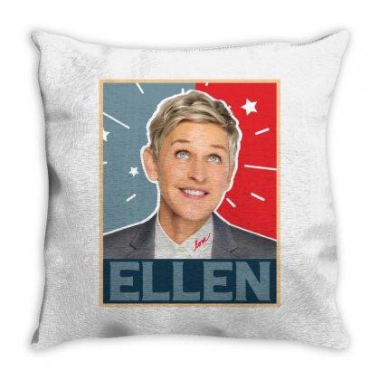 Ellen Degeneres Throw Pillow Designed By Sengul