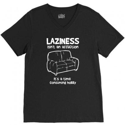 Laziness Funny Shirt V-neck Tee Designed By Narayatees