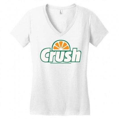 Orange Crush Women's V-neck T-shirt