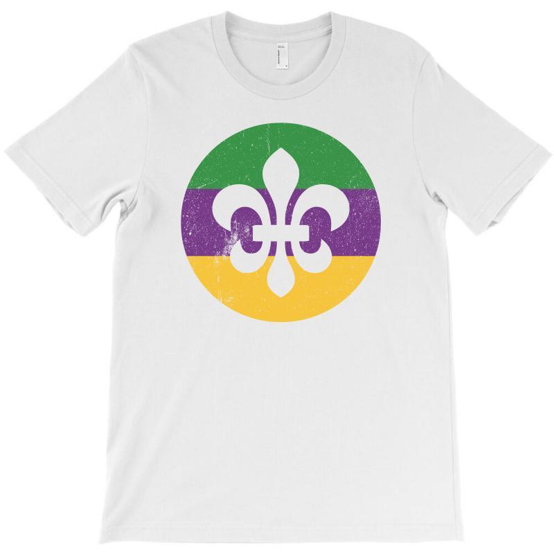 Mardi Gras Symbol Grunge T-shirt   Artistshot