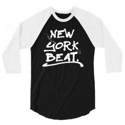 newyork beat for dark 3/4 Sleeve Shirt   Artistshot
