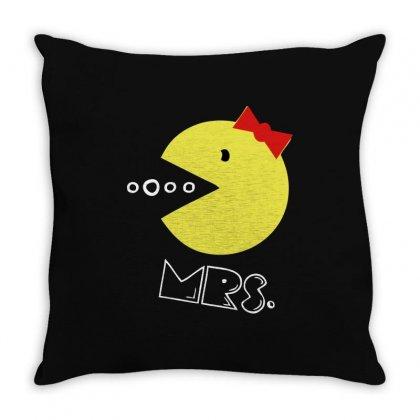 Mrs Pacman Throw Pillow Designed By Sengul