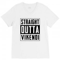 straight outta vikendi V-Neck Tee   Artistshot