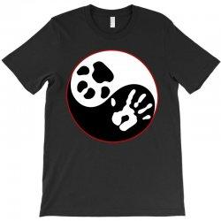 Yin Yang Human Hand Dog Paw T-Shirt   Artistshot