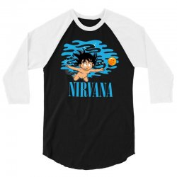 nirvana 3/4 Sleeve Shirt   Artistshot