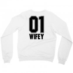 wifey for light Crewneck Sweatshirt | Artistshot