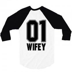 wifey for light 3/4 Sleeve Shirt | Artistshot