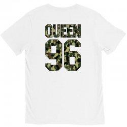 queen camouflage V-Neck Tee   Artistshot