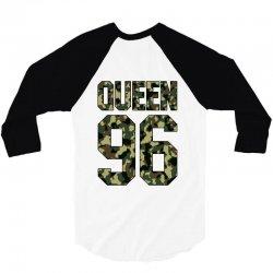 queen camouflage 3/4 Sleeve Shirt   Artistshot