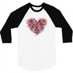 heart rose for light 3/4 Sleeve Shirt | Artistshot