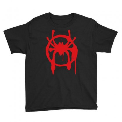 Into The Spider - Verse Youth Tee Designed By Meza Design