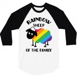 rainbow sheep of the family 3/4 Sleeve Shirt | Artistshot