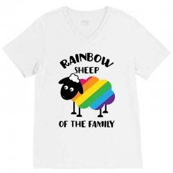 rainbow sheep of the family V-Neck Tee | Artistshot