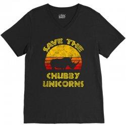 save the chubby unicorns 2019 V-Neck Tee | Artistshot