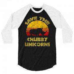 save the chubby unicorns 2019 3/4 Sleeve Shirt | Artistshot