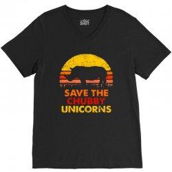 save the chubby unicorns V-Neck Tee | Artistshot