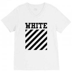 white V-Neck Tee   Artistshot