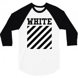 white 3/4 Sleeve Shirt   Artistshot